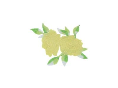 naszywka termo łata aplikacja KWIAT róża żółta