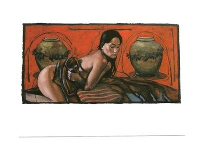 П / я.- N. Vrielink, женщина в красном с wazonami