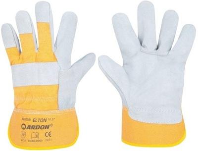 Pracovné rukavice Kožené ORIGINÁLNE Elton 12 párov