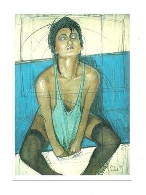 П / я.- N. Vrielink, Портрет Дже Seah в синеве
