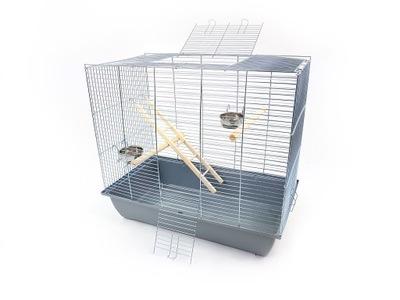 клетка мега 2 для ПТИЦЫ 70x40x62 - канарейка, попугай