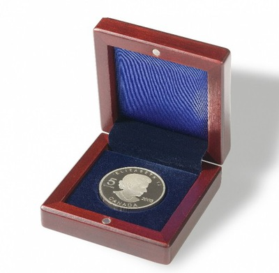 Leuchtturm - Etui mahoniowe na monetę do 41 mm