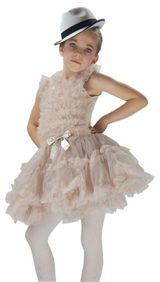 ELEGANCKA sukienka taniec SESJA   N013IVORY 6-7lat