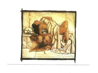Открытка - Нико Vrielink, женщина, на наших коже