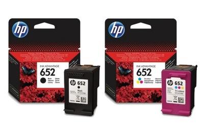 Tusze do drukarek HP 652 F6V24AE F6V25AE Oryginał