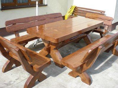 Meble Ogrodowe Drewniane Stol Z Bala Zestawy 7961698139 Allegro Pl