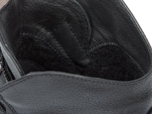GRODECKI 1001 botki zimowe POLSKIE czarne/szare 37