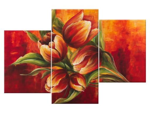 Obraz Abstrakcyjne Tulipany Abstrakcje 90x60 7351735506 Allegropl