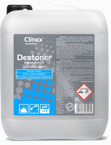 CLINEX DESTONER silny uniwersalny odkamieniacz 5l