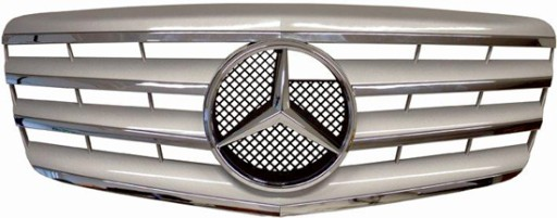 GROWTH FRONT MERCEDES W211 06-09 CHROME/SILVER