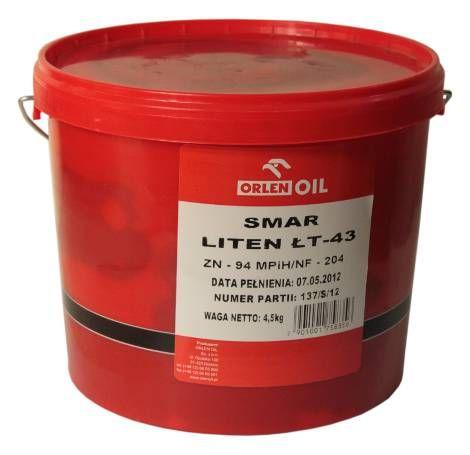 Smar ŁT-43 4,5kg z mydłem litowym odporny na wodę