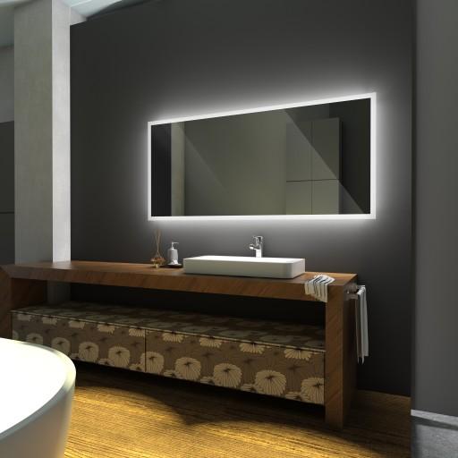 Lustro Podświetlane Led 100x80 Lustro Do łazienki