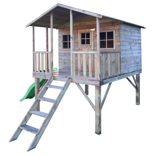 Drewniany Domek Ogrodowy Dla Dzieci GUCIO + ŚLIZG!