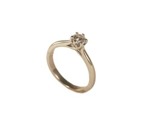 Pierścionek Zaręczynowy Z Brylantem 035 Ct 50 7040236896 Allegropl
