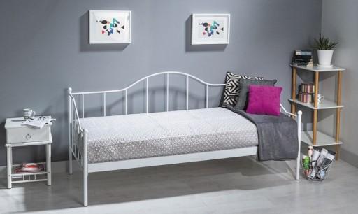 łóżko Metalowe Tanie łóżka Dover 90x200 Białe 1os
