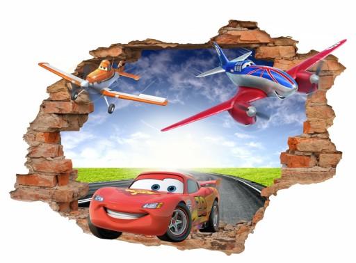 Naklejki Na ścianę Dla Dzieci Auta 3d Cars 100x70 6556390791