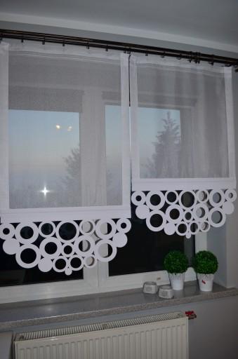 Firany Ażury Koła I Kwadrat Panel Ażur 110cm Szer