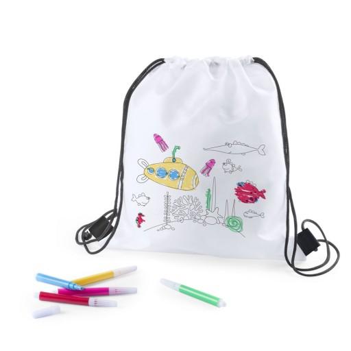 Zestaw Dzieciecy Do Malowania Kolorowania Worek 7584493322 Allegro Pl