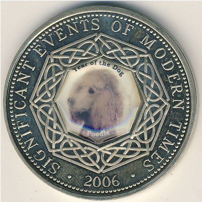 SOMALIA 1 DOLLAR 2006 Pies Poodle 11 Stan I/-I
