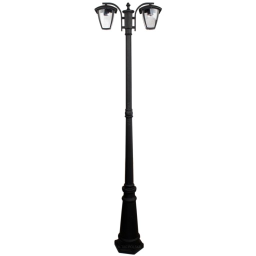 Lampa Ogrodowa Parkowa Latarnia Stojąca Podwójna 6892534998 Allegropl