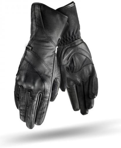 Rękawiczki damskie skórzane czarne Hurtownia Torebek
