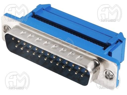 Złącze D-Sub wtyk męski PIN25 IDC na taśmę 1,27mm