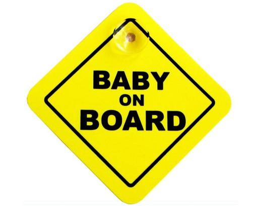 Naklejka emblemat przyssawka dziecko w samochodzie