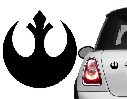 Naklejka na samochód/samochodowa Star Wars Rebelia