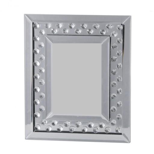 68e91f6a3ca1b0 DUŻA RAMKA na zdjęcie STOJĄCA lustrzana kryształki 7426435845 ...