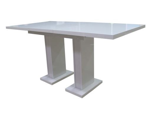 Stół Rozkładany 120160 Biały Wysoki Połysk 7 Dni 6566703780