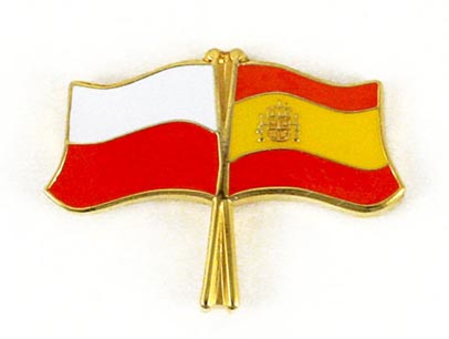 Przypinka pin wpinka flaga POLSKA-Hiszpania