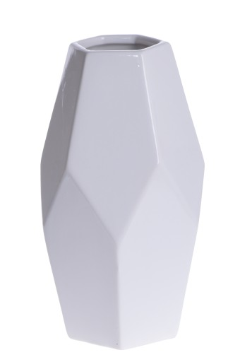Atramart Wazon Geometryczny Bialy Duzy 38cm 6942389378 Allegro Pl