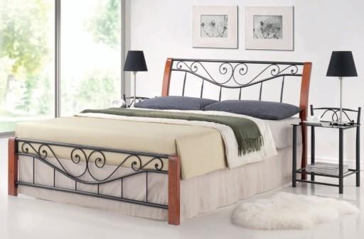 łóżko Metalowe 140x200 Z Zagłówkiem Stelażem łóżka
