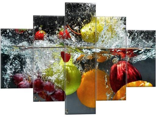 Obraz Do Kuchni Do Jadalni 150x105 Tryptyk Owoce