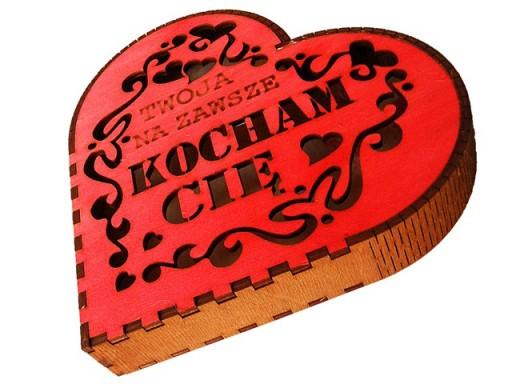 Serce Kocham Cie Dla Niego Prezent Walentynki 5946067179 Allegro Pl