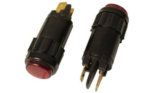 ZIBINTAS (LEMPUTE) kontrolna UNIVERSALINIS RAUDONA VIDURINIS 15mm
