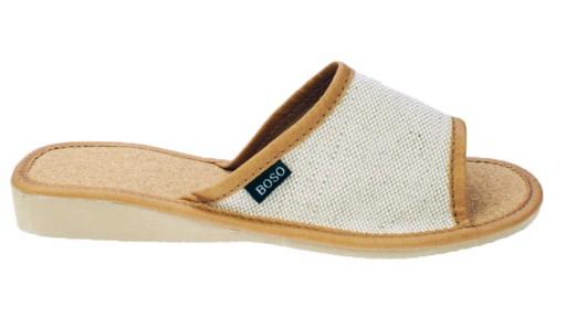 35a59151 Pantofle damskie BOSO beż 1109-1 klapki kapcie 37 6795856628 - Allegro.pl
