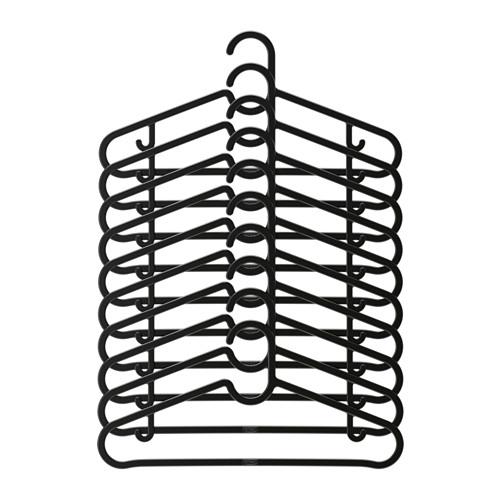 Ikea Spruttig Wieszak Na Ubrania X10szt Czarne 6695258102 Allegropl