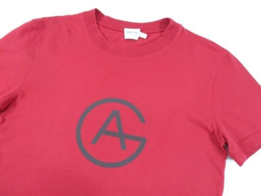 ARMANI Koszulka T-Shirt Męski Czerwony r. S 7541474486 Odzież Męska T-shirty IV JKQNIV-1