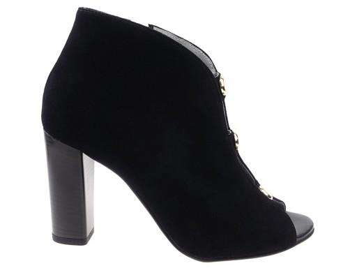 c340d353 EKSBUT buty botki 4792 czarne skóra 39 7095204393 - Allegro.pl