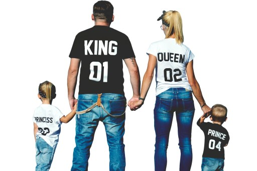 Koszulki Dla Par Dzieci King Queen Prince Princess 6817129008 Allegro Pl