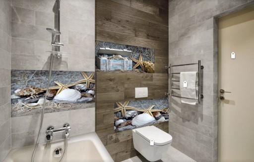 Płytki Szklane Panele Tryptyk łazienka