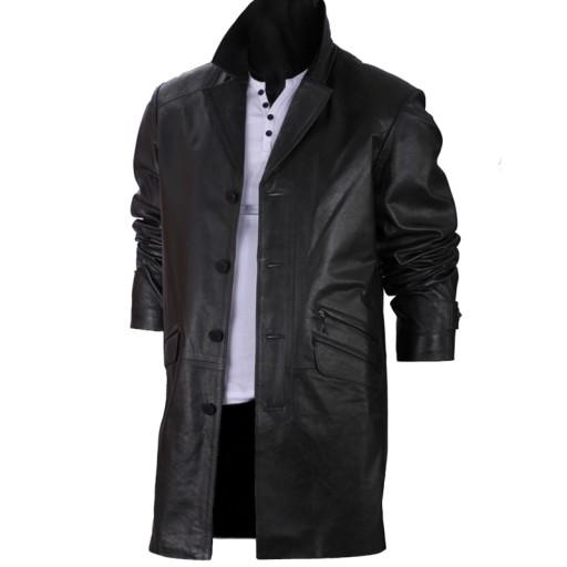 kurtki płaszcz skórzany meski