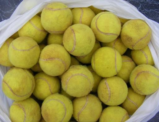 Markowe piłeczki tenisowe - używane cena za 12 szt