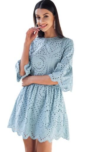 aeb87e4d0 Stylowa sukienka koronkowa mini oryginalna HIT L (7423141947 ...