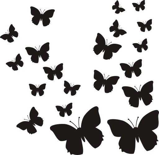 Naklejki Na ścianę Meble Motyle Motylki Naklejka