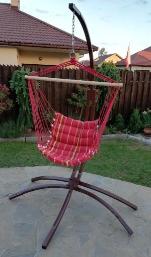 KOMPLET stelaż metalowy krzeslo brazylijskie hamak