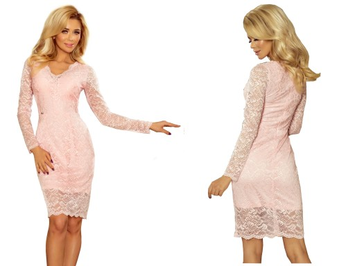 09e8094a7b ELEGANCKA Sukienka NA WESELE KORONKOWA 170-4 S 36 7378688491 ...