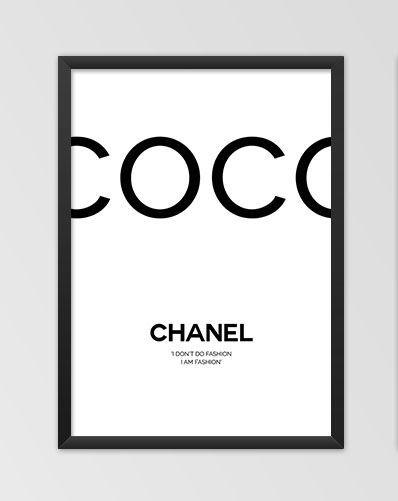 Duży Obraz Plakat Cytat Coco Chanel 50x70 7562325285 Allegropl