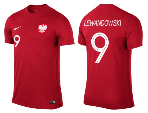 805ab10b3 KOSZULKA NIKE POLSKA LEWANDOWSKI 2018 M (7341673596) - Allegro.pl ...